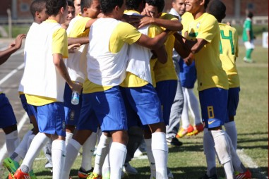 First important title win at the South American U-15 Football Championship with Brazil in 2011